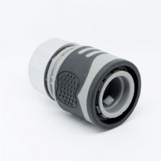 "Quantum Garden - White Line - 1/2"" or 5/8"" Quick Hose Connector - SOFT TOUCH"